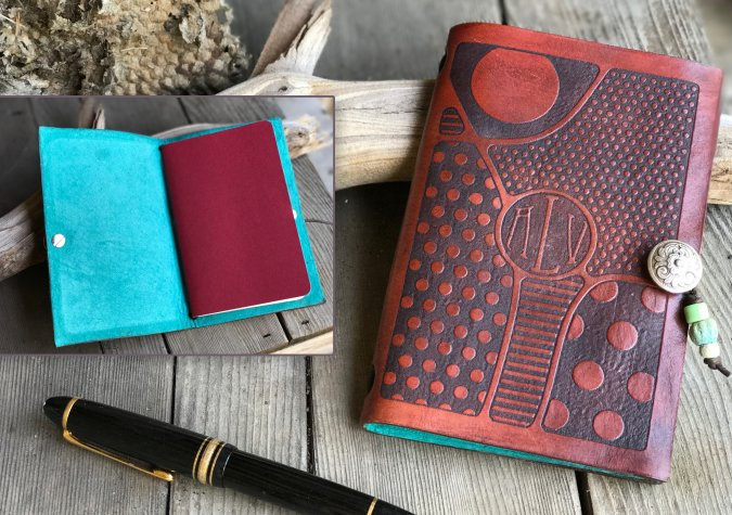 CRAFTCAST Making a Custom Designed Leather Journal with your Silhouette Curio with Cindy Pope