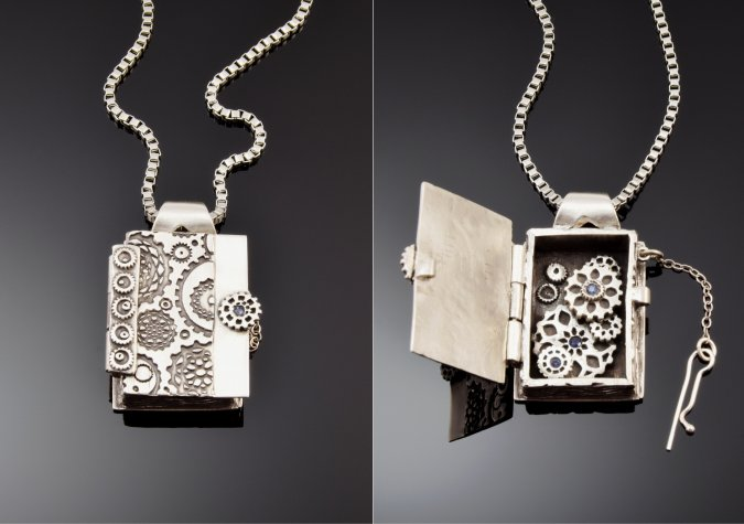 Steampunk Gear Box: Hinged Box Pendant with Pam East at CraftCast.com