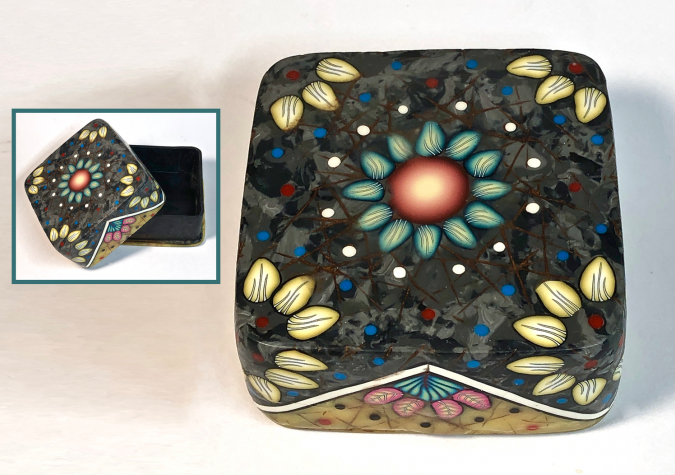 Patterned Trinket Boxes in Polymer Clay with Deb Hart at CraftCast.com