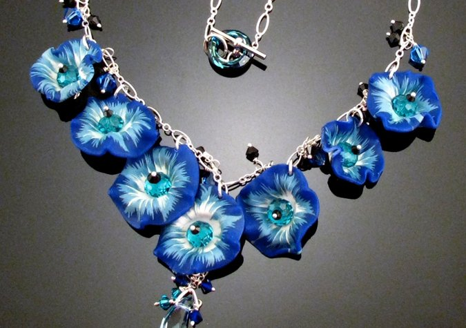 Learn to Make a Crystal Blossom Polymer Clay Necklace with Lisa Pavelka