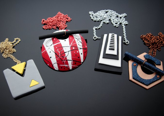 Modern Graphic Pendants in Polymer Clay Tutorial