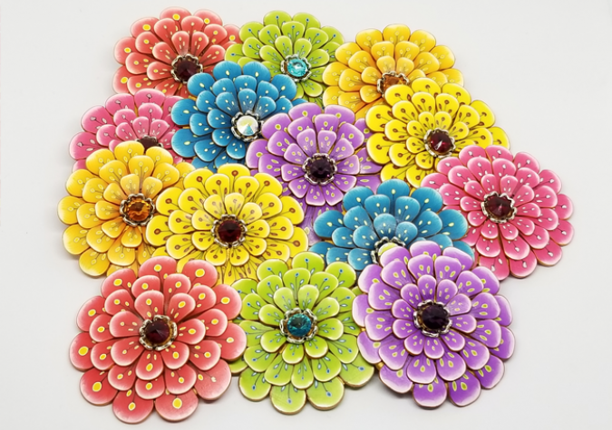 A Bouquet made with Polymer Clay