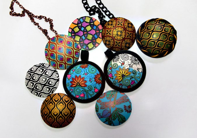 by mandarinmoon polymer colors art deviantart clay pendants pendant bold on
