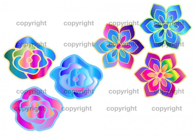 Digital Flower Designs