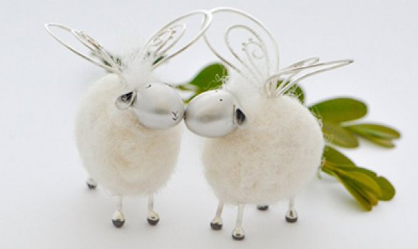 making metal clay felted sheep