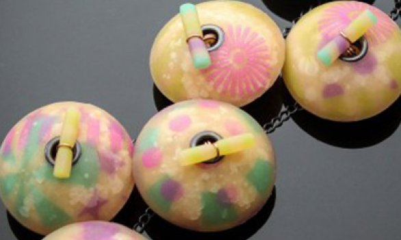 Make a Hollow Bead Polymer Clay Circus Necklace