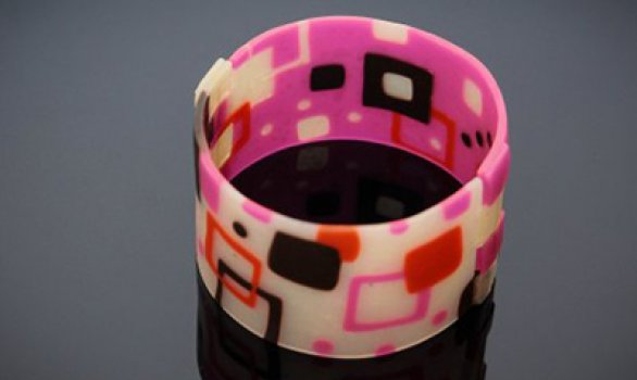 Translucent Polymer Clay cuff how-to