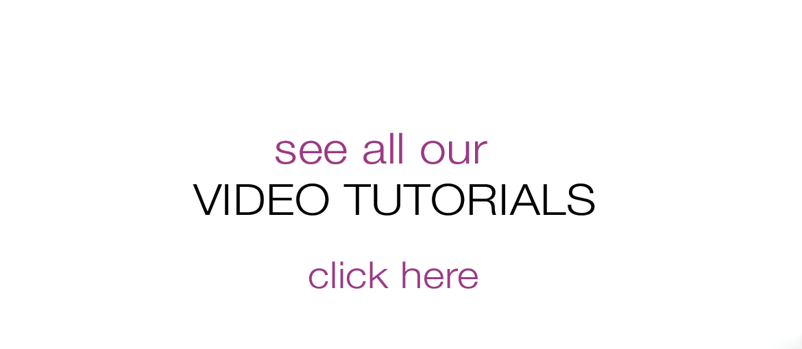 All our video tutorials
