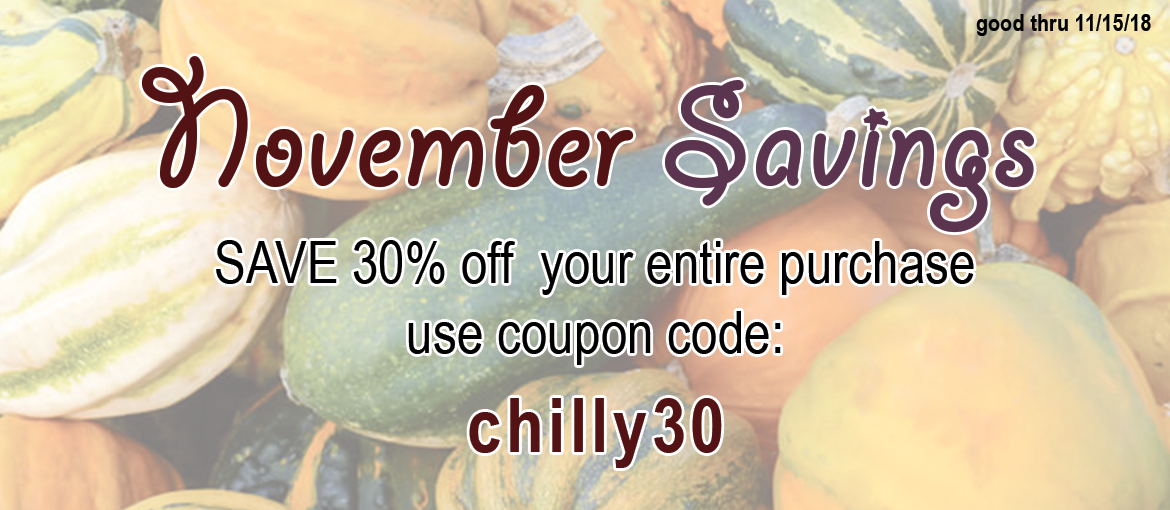 30% off sale code chilly30