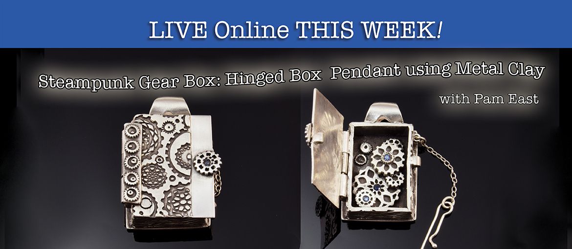 Pam East Steampunk Hinged Box from Metal Clay