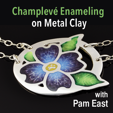 Champlevé Enameling on Metal Clay