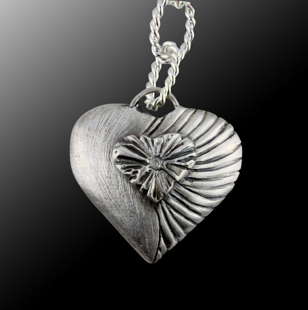 My open heart 3d metal clay pendants craftcast with alison lee 3d metal clay heart pendant tutorial aloadofball Image collections