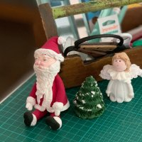 paper clay santa tree and angel