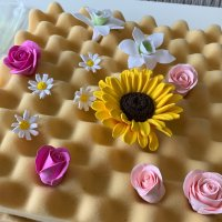 paper clay flowers