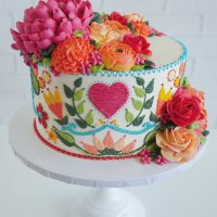 "Leslie Vigil ""embroidered"" cakes @ CraftCast.com"