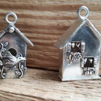 Sweet Silver  Metal Clay Birdhouse Pendants with Sulie Girardi