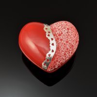 Ceramic and Metal Clay Sweetheart Box with Pam East