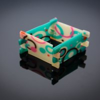 Hinged Bracelet with Translucent Polymer Clay with Anke Humpert at CraftCast.com