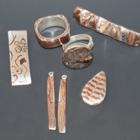 mokume gane metal clay class with jackie truty