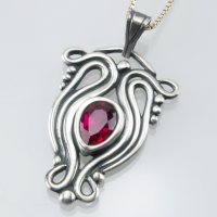 Art Nouveau Inspired Designs in Metal Clay with Lis-el Crowley at CraftCast.com
