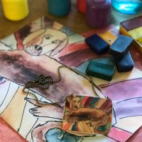 Creating Polymer Jewelry from your Colored Artwork with Mags Bonham at CraftCast.com