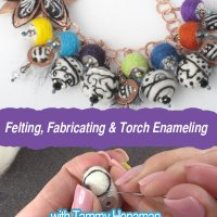 learn to create needle felted charms for jewelry