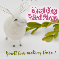 Metal Clay Felted Sheep with Sue McNenly @ CraftCast.com
