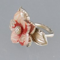 Metal Clay Flower Ring with Barbara Becker Simon @ CraftCast.com