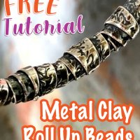 Metal Clay Roll Up Beads @craftcast.com
