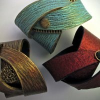 Learn to make Polymer clay wrap bracelets with Helen Breil