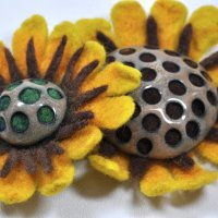 Felted and Enameled: Colorful Copper Flower Brooches with Jennifer Field