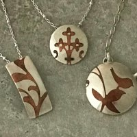 Mixed Metal Pendant: Learn to Create and Inlay a Copper Design in Fine Silver with Paula Beckett at CraftCast.com