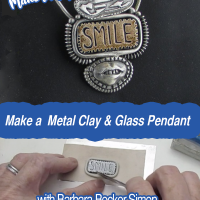 Skip to main content Home  Put It In Writing: A Metal Clay and Glass Cabochon Pendant  EditPrimary tabsViewEdit(active tab)Manage display Title * Put It In Writing: A Metal Clay and Glass Cabochon Pendant Body <p>Join master clay and glass artist Barbara Becker Simon and learn to combine metal clay and a fused glass cabochon.</p> <p><strong>Included in your purchase is a PDF with photos, notes and online resources, PLUS the class video to watch as many times as you like.</strong></p> <p>Using a fused glass