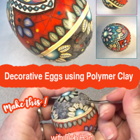 Making Decorative Mosaic Eggs using Polymer Clay