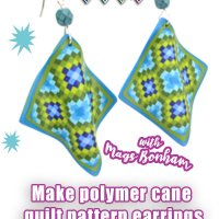 Quilting Canes with Polymer Clay and Silhouette Software with Mags Bonham @ CraftCast.com