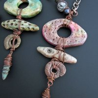 Painted Polymer Fossil Talisman with Staci L. Smith