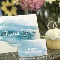 Watercolor Invitation Stationery Suite Aqua