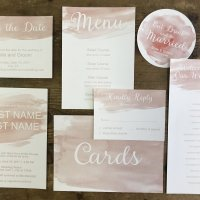 Watercolor Invitation Stationery Suite Blush