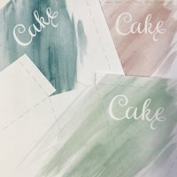 Watercolor Invitation Stationery Suite Cake Box