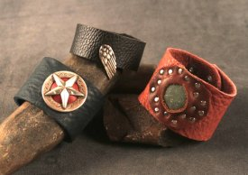 learn to make leather cuffs