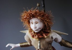 Sculpting a whimsical doll's head with Marlaine Verhelst