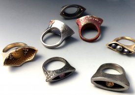 Open Design Metal Clay Rings