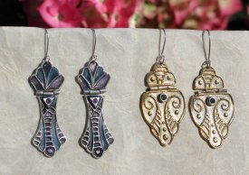 Metal Clay Hinged Earrings