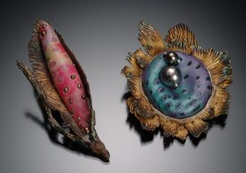 "Metal Clay ""Pods"" with Polymer ""Seeds"" with Kelly Russell"