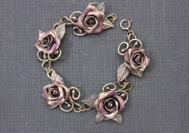 Create a Floral Bracelet using Metal Clay, Wire and Accent Color with Nicola Beer