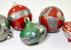 Silver Clay Holiday Ornaments with Pam East @ CraftCast.com
