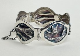 Learn to make a Hinged Metal Clay Cuff