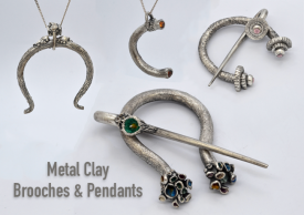 Learn to make Brooches and Pendants in Metal Clay