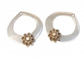 Silver Hoops with Gold Base Metal Accents with Cindy Pope @craftcast.com