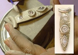 Stone Setting in Metal Clay with Lorrene Baum-Davis